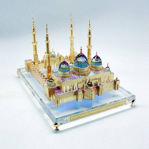 Sheikh Zayed Mosque 3D Crystal Souvenir