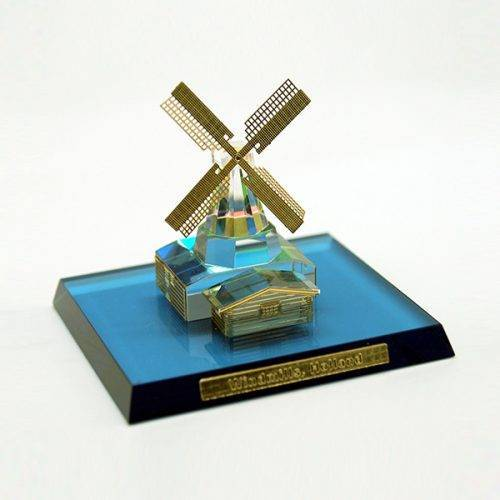The Windmill Holland 3D Crystal Souvenir