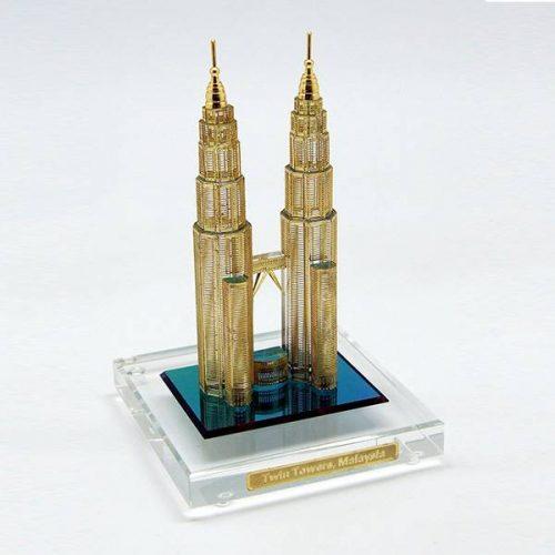 Twin Tower 3D Crystal Souvenir