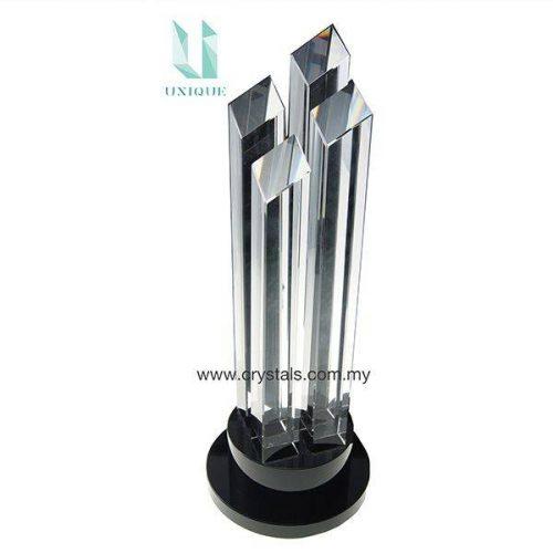 3D Pillar Crystal Trophy AC4021